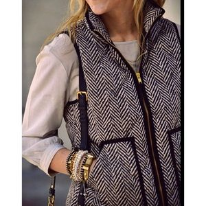 J CREW Excursion Vest Herringbone Quilted Vest XXS